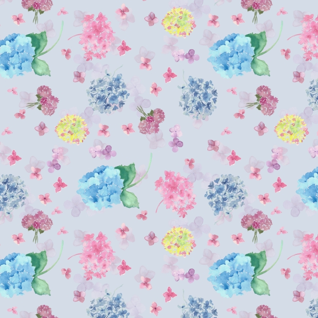watercolor summer floral pattern