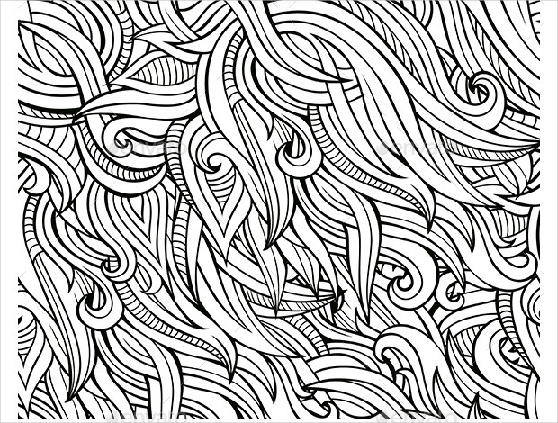 Nature Doodle Seamless Pattern