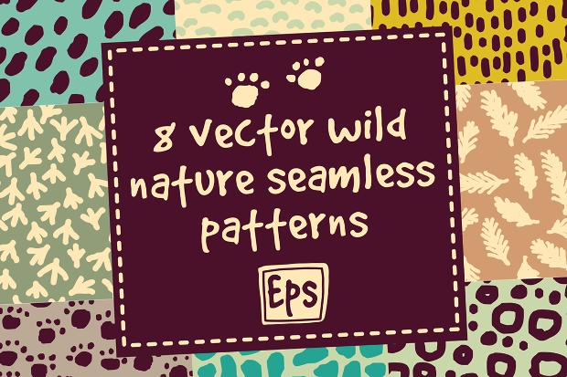 wild nature pattern set