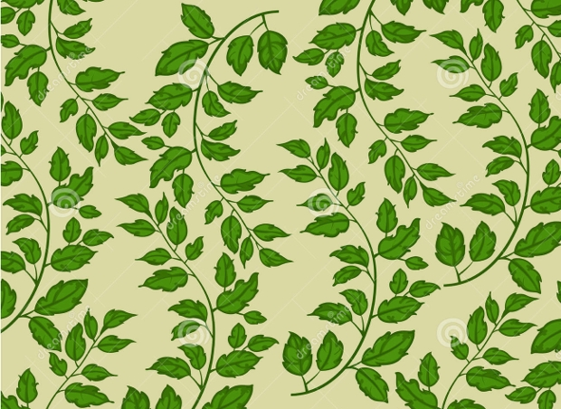 green leaf nature pattern