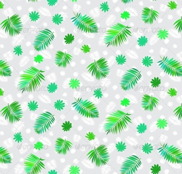 tropical leaves nature pattern1