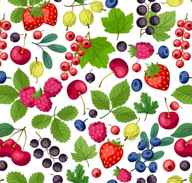 Nature Vector Fruits Pattern