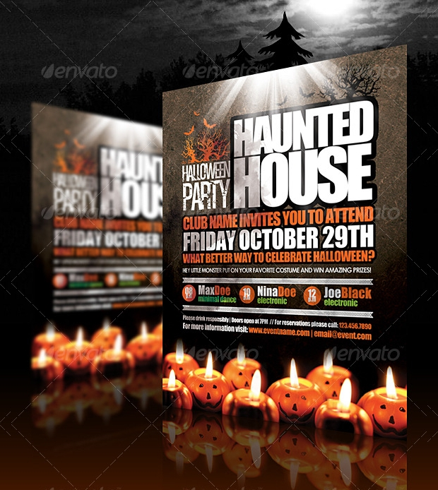 Dark Halloween Flyer