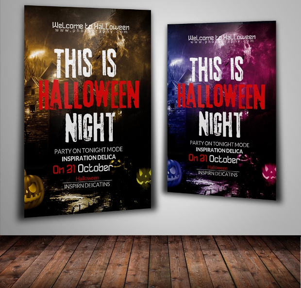 Editable Halloween Flyer