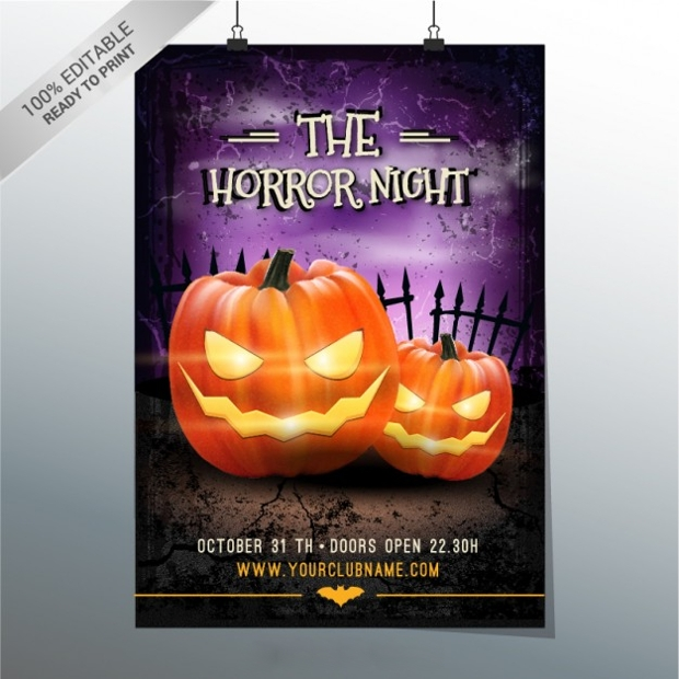 Free Horror Night Flyer