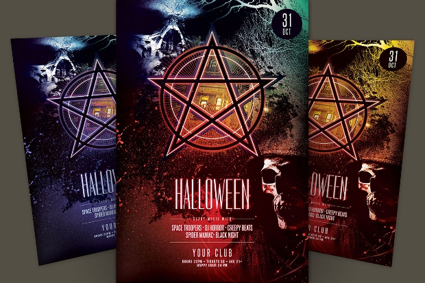 Colorful Halloween Flyer