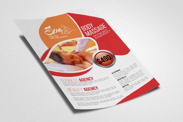 Massage & Body Care Flyer