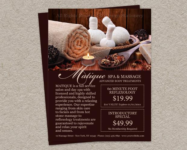Printable Spa Salon Flyer