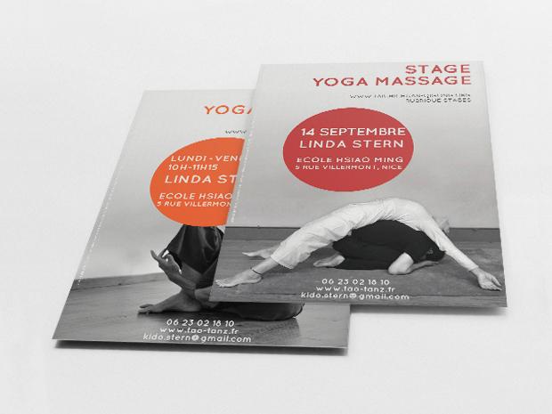 Yoga Massage Flyer