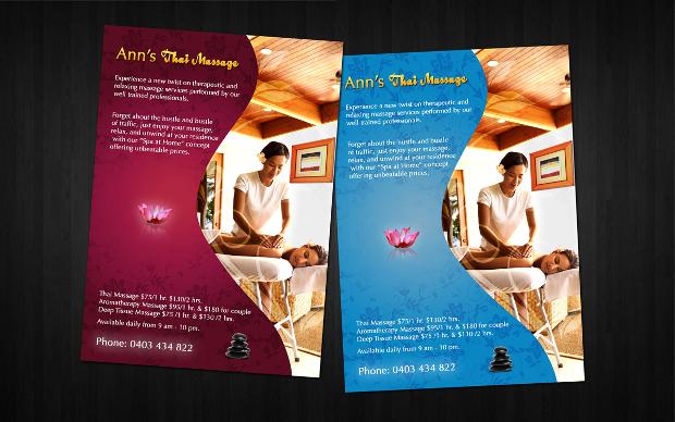 Simple Massage Flyer Design