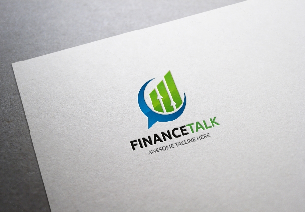 finance talk logo design template