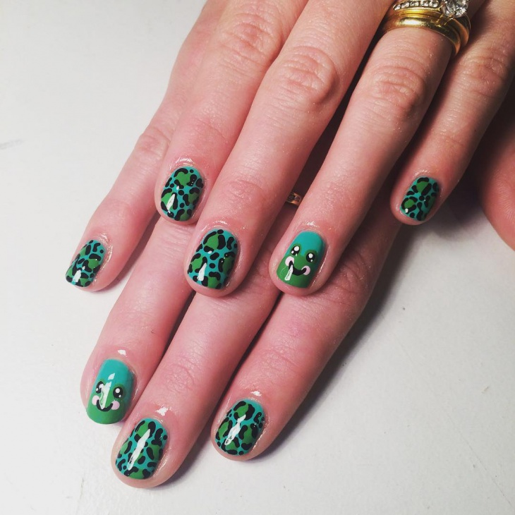 15 frog nail art designs ideas design trends premium psd frog leopard nail design prinsesfo Choice Image