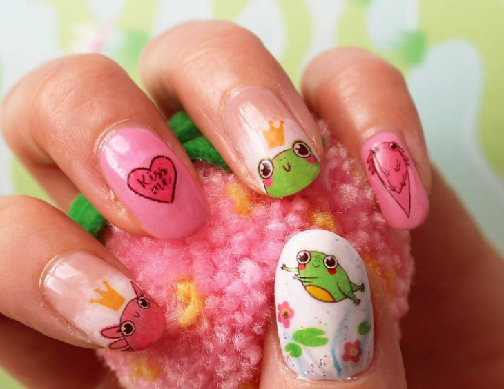 15 frog nail art designs ideas design trends premium psd prince frog nail art design prinsesfo Choice Image
