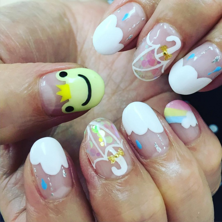 happy frog nail design