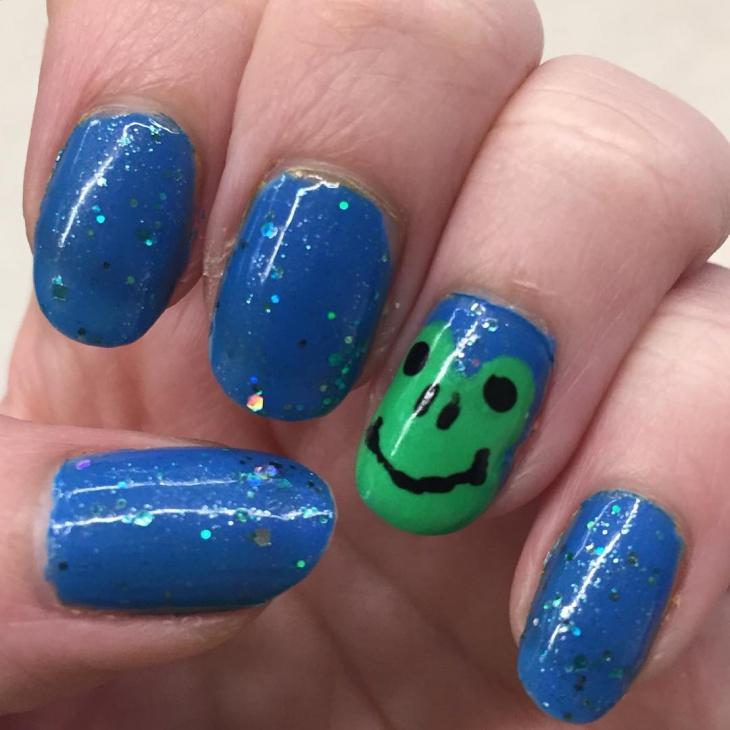 Arcylic Frog Nail Art