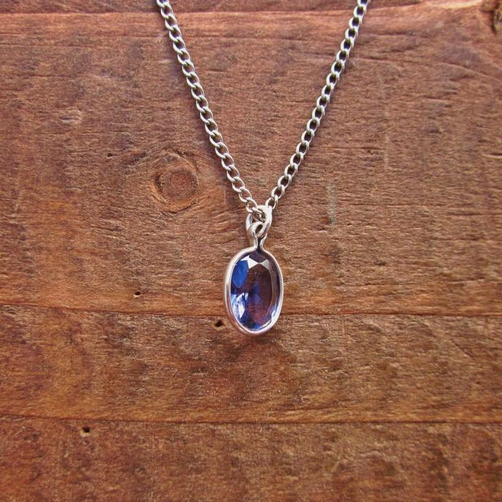 Oval Gemstone Pendant