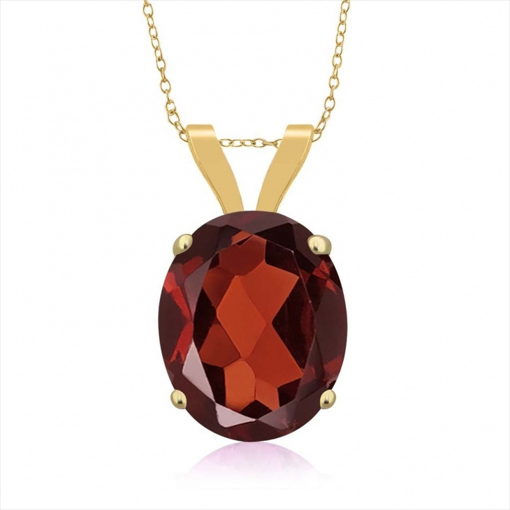 Red Oval Pendant Design