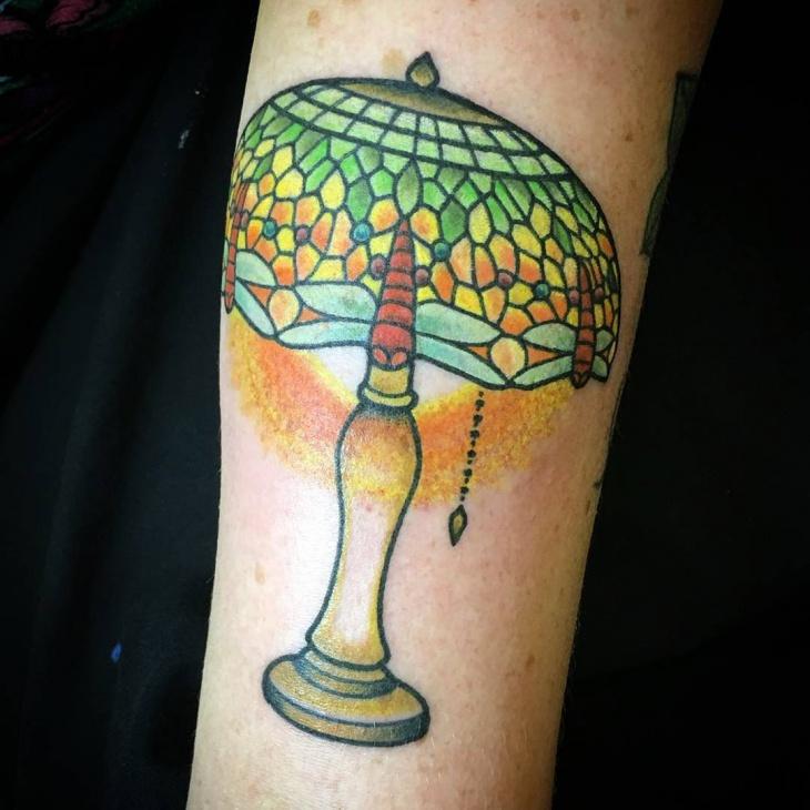 vintage lamp tattoo