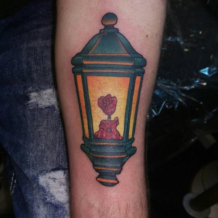rose lamp tattoo