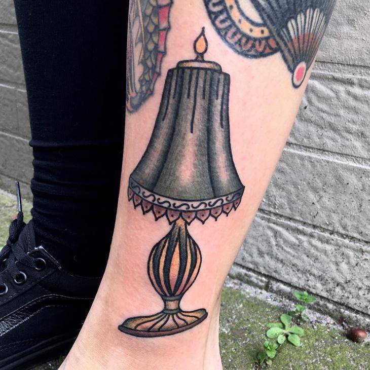 black lamp tattoo idea