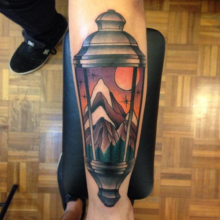 nature lamp tattoo