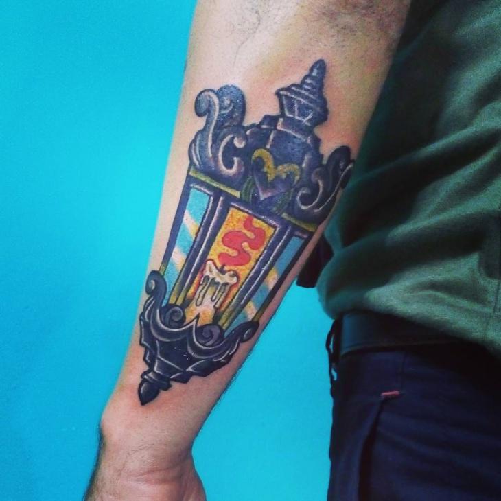 arm lamp tattoo idea