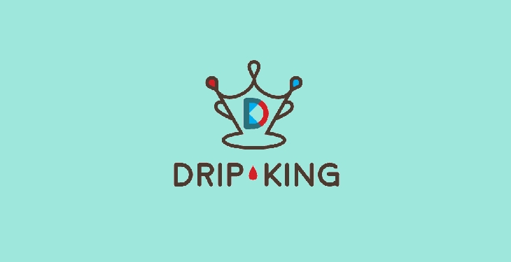 drip king coffee logo by tyler osegard