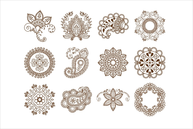 ethnic ornament brushes