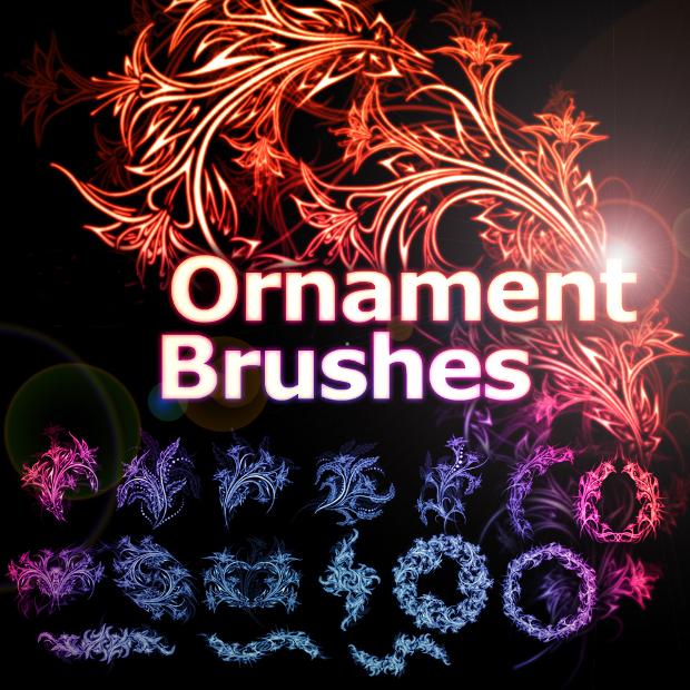 ornament photoshop frame brushes