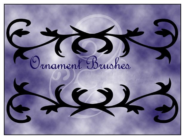 blue ornament photoshop brushes