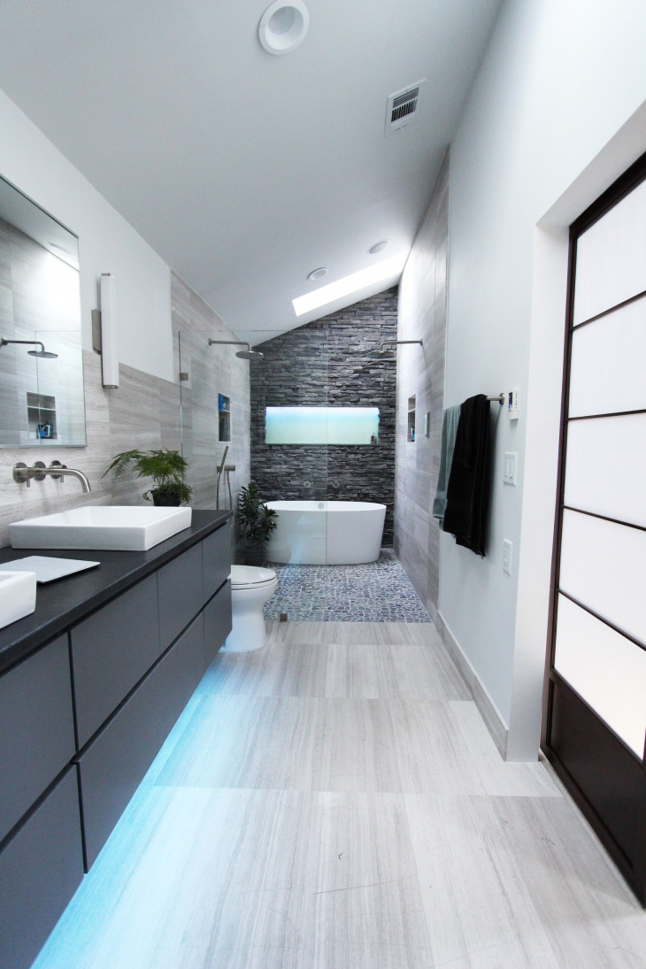 18+ Laminate Flooring Bathroom Designs, Ideas