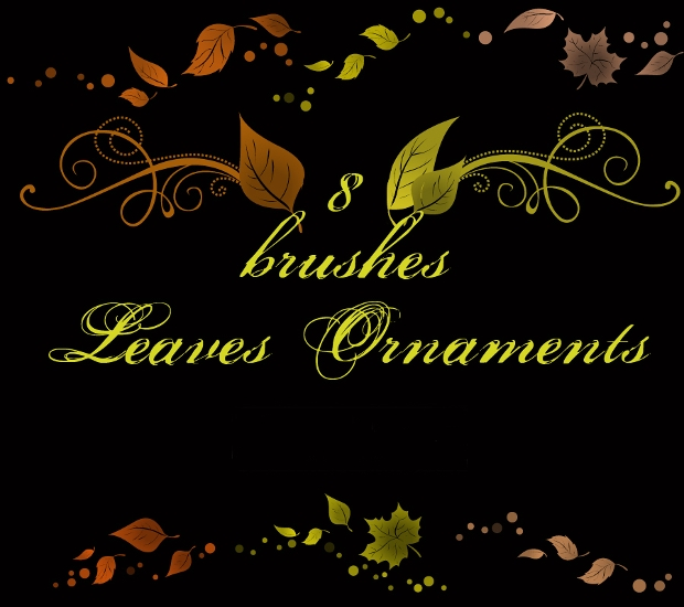 Leaves ornaments Brushes