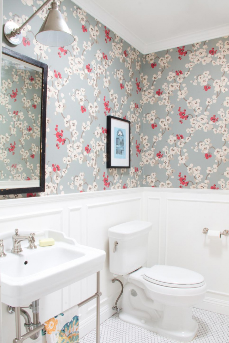 Bathroom Floral Wallpaper