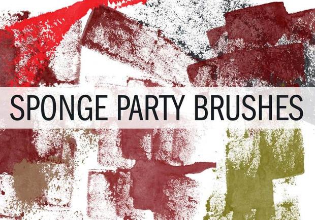 sponge party brushes