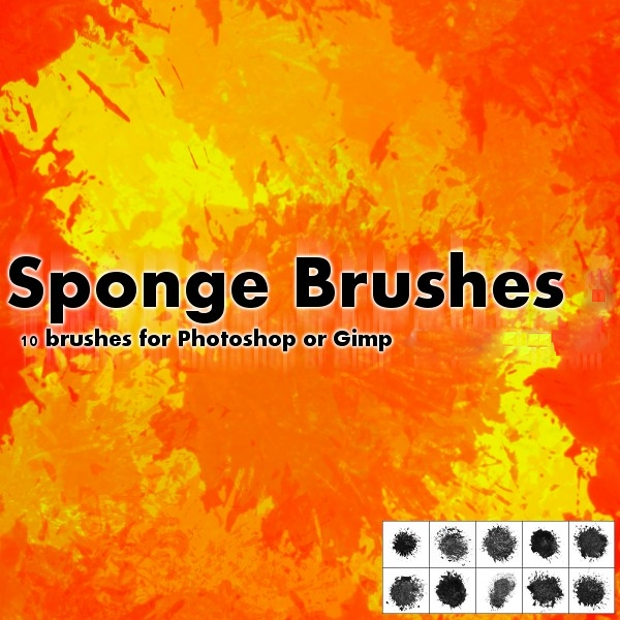 Colorful Sponge Vector Brushes