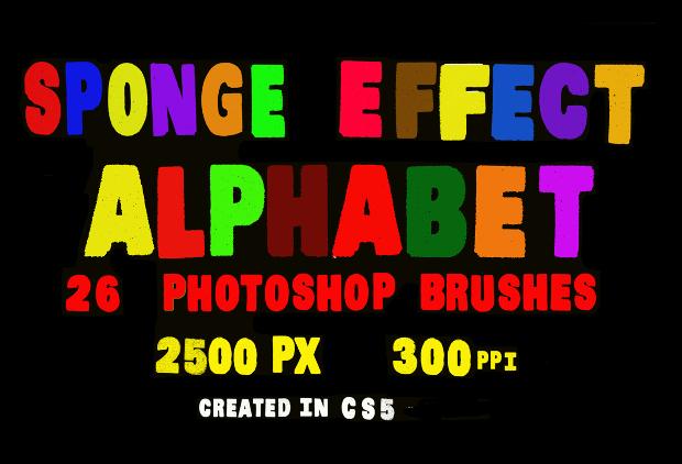 sponge effect alphabet