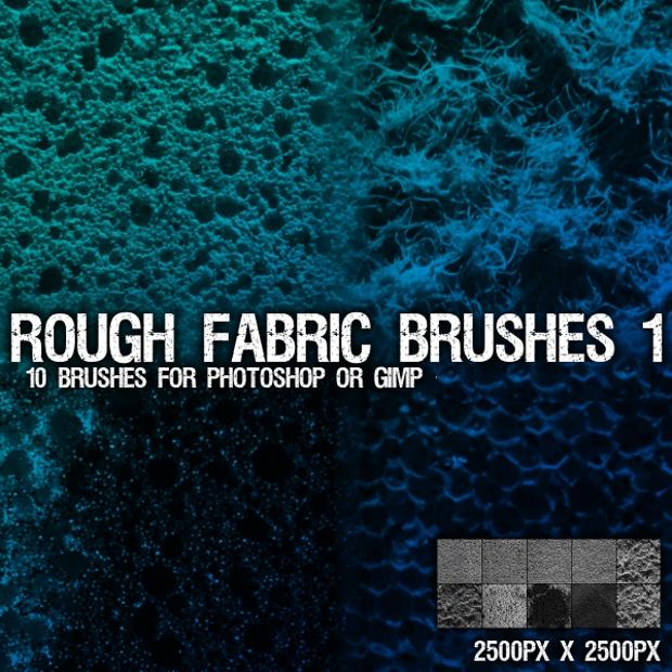 rough sponge photoshop brushes