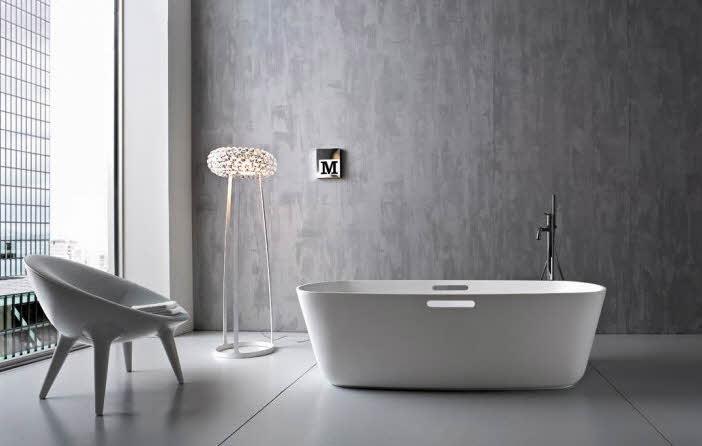 Cement Bathroom Laminate Flooring