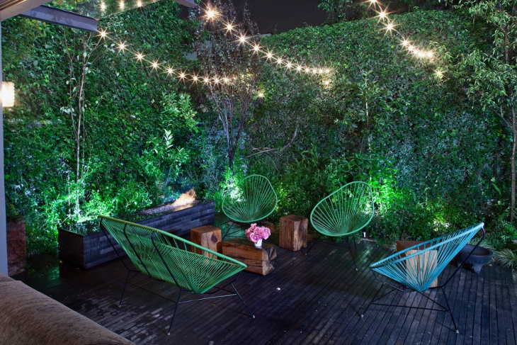 Rustic Garden Lighting Idea