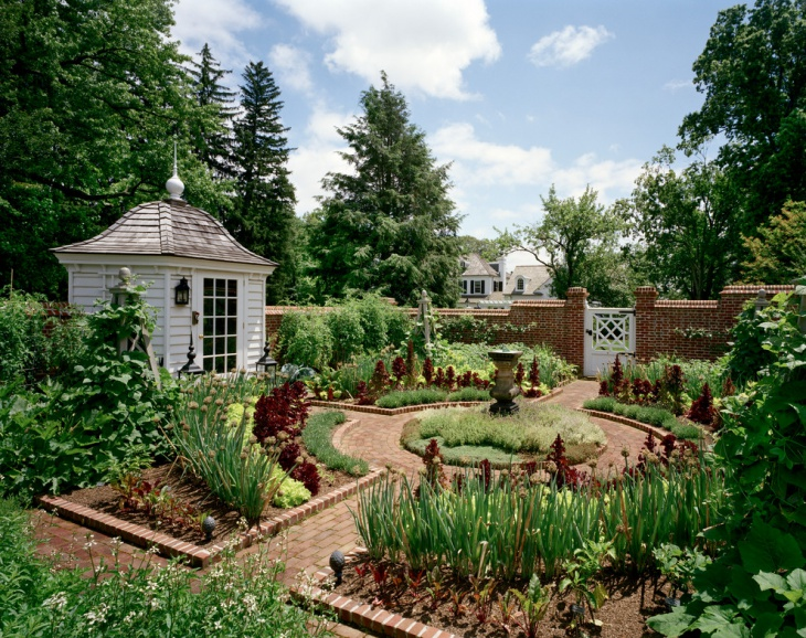 Traditional Rustic Garden Design
