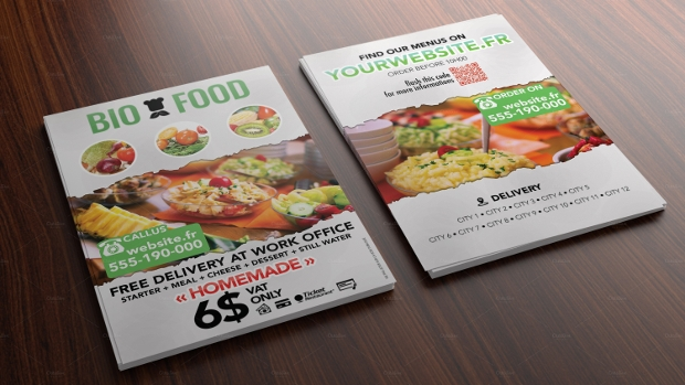 Bio Food Catering Flyer Design