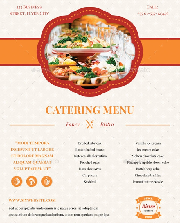 16+ Catering Flyer Designs - Printable PSD, AI, Vector EPS Format ...