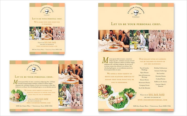 Catering Company Flyer Design