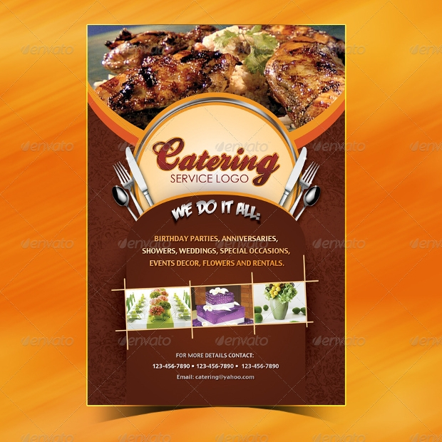 Catering Menu Flyer Template