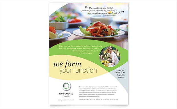 Delicious Food Catering Flyer Template