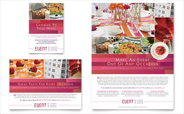 Corparate Event Planner Catering Flyer Template
