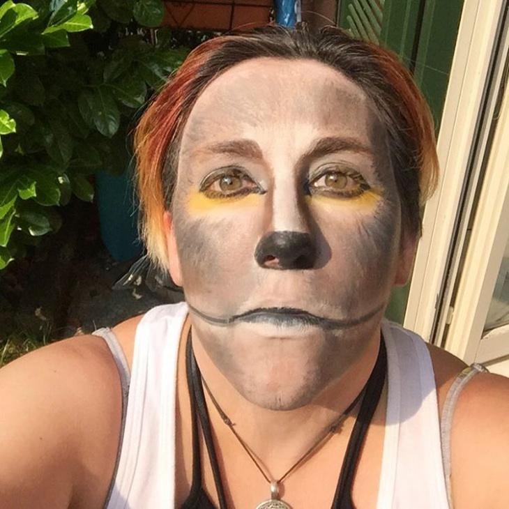 werewolf makeup idea