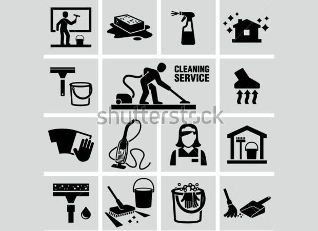 cleaning icon collection