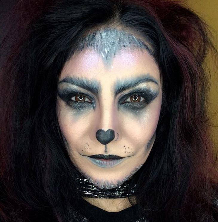 grey wolf eye makeup