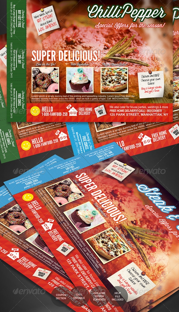 Fast Food Restaurent Catering Flyer